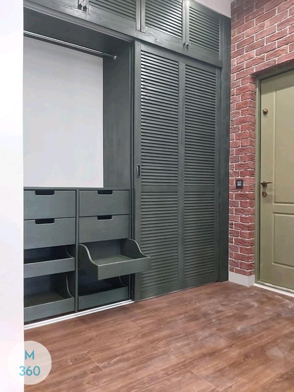 Шкаф с жалюзийными дверцами Домодедово Арт 000556165